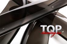 6258 Дефлекторы на окна на Toyota Land Cruiser Prado 120