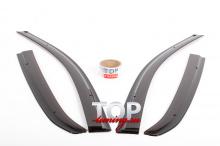 Оригинальные дефлекторы на окна Well Visors- Стайлинг  Toyota Corolla  (2012-2016)