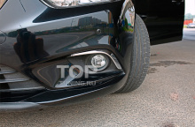 6276 Верхние молдинги на ПТФ Epic Silver на Mazda 6 GJ