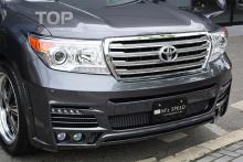 6278 Передний бампер MzSpeed Luv-Line (Рестайлинг) на Toyota Land Cruiser 200