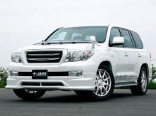 6283 Юбка на передний бампер Jaos на Toyota Land Cruiser 200