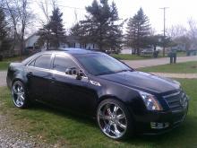 6286 Капот штатный на Cadillac CTS 2