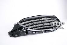Решетка радиатора без эмблемы Мазда, модифицированная из оригинальной решетки, на родных креплениях. Тюнинг Mazda CX5.