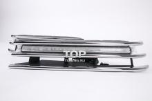6296 Дневные ходовые огни EPISTAR с хромированным молдингом на VW Touareg II