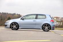 6300 Накладки на пороги Rieger Lite на VW Golf 6