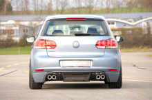 6302 Накладка на задний бампер Rieger Lite на VW Golf 6