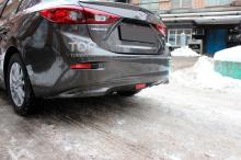6303 Диффузор заднего бампер GT на Mazda 3 BM