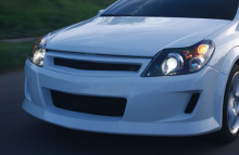 Тюнинг решетка радиатора без эмблемы - Обвес Вольт для Opel Astra H GTC