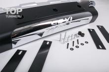 6353 Накладка на передний бампер Type 1 на Hyundai ix35