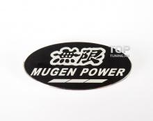 Алюминиевый шильд Mugen Power. Размер 80 * 38 мм.