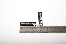 3D наклейки AMG Driving Academy Черные, на алюминиевой подложке с двусторонним скотчем. Размер 60 * 14 мм.
