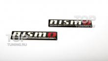 3D наклейки Nismo Черные, на алюминиевой подложке с двусторонним скотчем. Размер 60 * 14 мм.