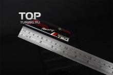 Эмблема наклейка TRD в эластичной смоле, на карбоновой основе. Размер 100 * 24 mm.