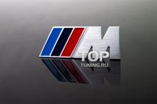 Самоклеящаяся металлическая эмблема - Модель M Power - Тюнинг BMW. Размер 83 * 31.