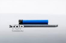 Металлическая наклейка - Модель Мюген - Тюнинг Хонда. Размер 110 * 15 мм.