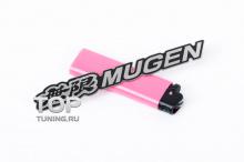 Никелевая, самоклеящаяся  эмблема - Модель Мюген - Тюнинг Хонда. Размер 120 * 18.