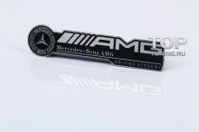 6398 Никелевая эмблема AMG 94x22 на Mercedes