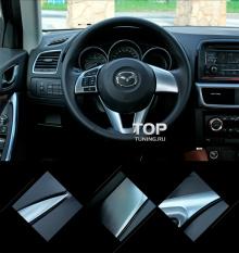 Декоративные накладки на рулевое колесо - Модель Skyactiv Premium - Стайлинг Мазда СХ-5.