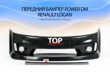 6434 Передний бампер Power DM на Renault Logan