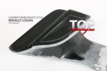 6438 Спойлер Power DM (Evo Style) на Renault Logan