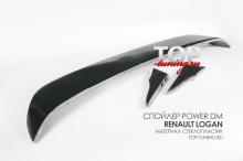 6439 Спойлер крышки багажника Power DM на Renault Logan