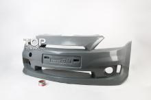 Передний бампер - Обвес Power DM с интегрированной решеткой радиатора - Тюнинг Рено Логан (дорестайлинг)