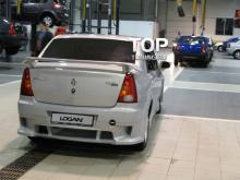 6442 Задний бампер Power DM дорестайлинг на Renault Logan