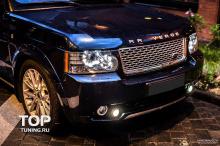 Накладка на передний бампер - Модель VERGE Classic - Тюнинг Range Rover Vogue (3 Поколение, 2-ой рестайлинг 2010, 2012.)