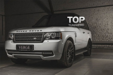 Защита переднего бампера - Модель VERGE Individual- Тюнинг Range Rover Vogue (3 Поколение, 2-ой рестайлинг 2010, 2012.)