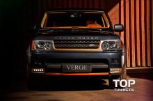 6494 Защита переднего бампера VERGE на Land Rover Range Rover Sport L322