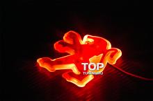 6539 Эмблема со светодиодной подсветкой Red (87mm x 92mm) на Peugeot
