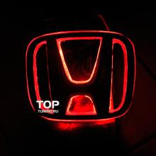 6542 Эмблема со светодиодной подсветкой LED на Honda