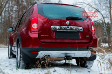 6584 Защита заднего бампера на Renault Duster 1