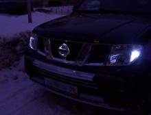 Светодиодная вставка под эмблему Nissan - Размер 155 * 135мм.