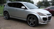 Передний бампер - тюнинг, обвес Nissan Murano Pandora.