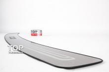 6634 Накладка на порог заднего бампера Platinum на Subaru Forester 4