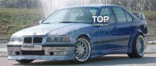 6642 Юбка на передний бампер Rieger на BMW 3 E36