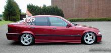 6643 Накладки на пороги Rieger на BMW 3 E36