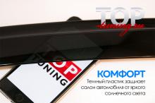 Оригинальные дефлекторы на окна - Тюнинг Мазда 3 BK до 2009 года. Седан.