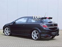 710 Накладки на пороги Steinmetz на Opel Astra H GTC