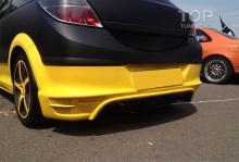 713 Накладка на задний бампер Rieger на Opel Astra H GTC