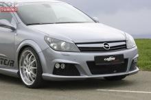 Передний тюнинг бампер на Opel Astra H GTC стиль LMA