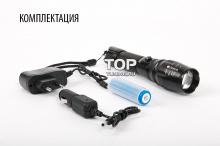 Светодиодный, удароустойчивый фонарь с механическим зумом Platinum LED