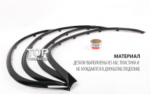 Комплект штатных расширителей арок - Тюнинг БМВ Х6 Е71. Комплект 4шт.
