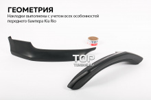 7857 Накладки на передний бампер Evolution (Дорестайлинг) на Kia Rio 3
