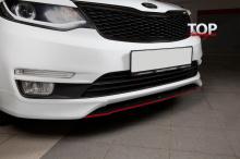 Клыки переднего бампера Evolution - Тюнинг Киа Рио 3 (Седан / Хетчбэк, Рестайлинг, 2015 +)