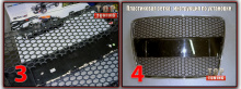 Тюнинг сетка в бампер и решетку радиатора - ЛАМБО Тип 3 - XXL Размер листа - 120 х 50 см.