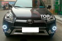 7897 Дневные ходовые огни Led Star на Toyota RAV4 3