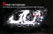 7905 Светодиодная оптика U-Bar Chrome на Toyota Land Cruiser Prado 150