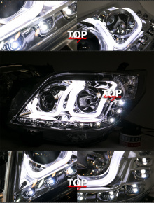 7905 Светодиодная оптика U-Bar Chrome на Toyota Land Cruiser Prado 150